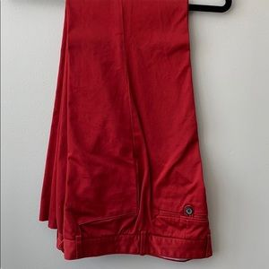 Red Tommy Hilfiger cotton pants
